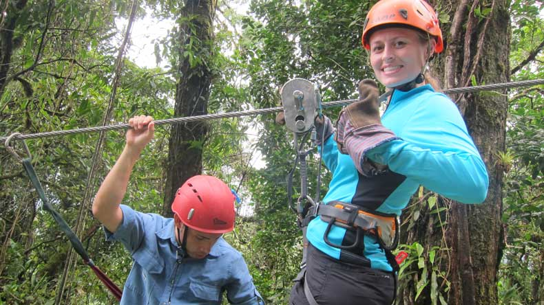 Parenthood and passports - Ziplining in Costa Rica