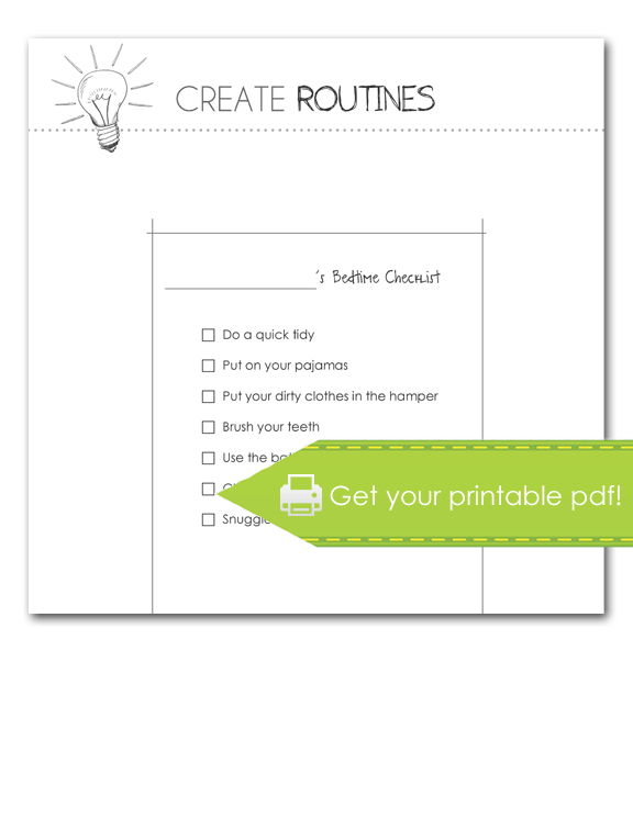 Create Routines: Bedtime Checklist
