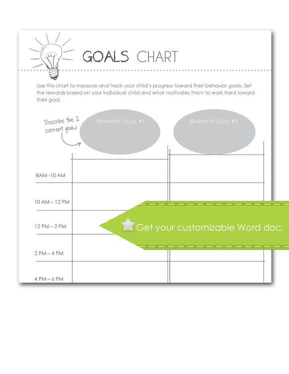 Goals Chart, Customize