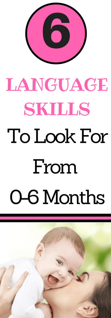Do you know what language skills to look for in your 0-6 month old baby? Check out this complete guide of language development from Parenting Expert to Mom for information on what skills to look for and how to encourage them.