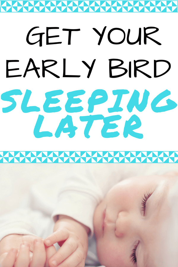 Helpful Infant Sleep Tips: Prevent your baby waking up too early with these baby sleep tips. Baby sleep hacks to help your little one sleep later so you can get more rest as well!