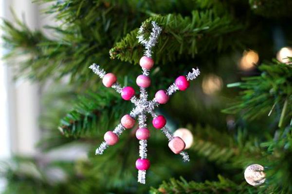 homemade glitter snowflake christmas ornament by alphamom