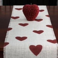 Valentine's Day At Home Table Runner