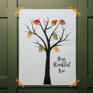 New Holiday Traditions During COVID - Gratitude Tree
