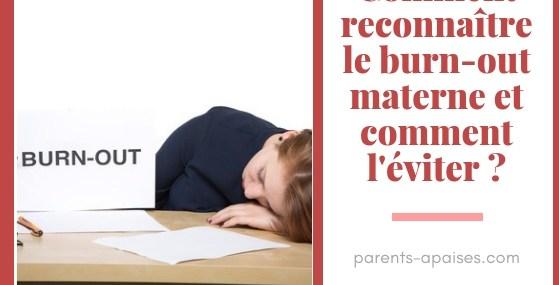 Le burnout maternel