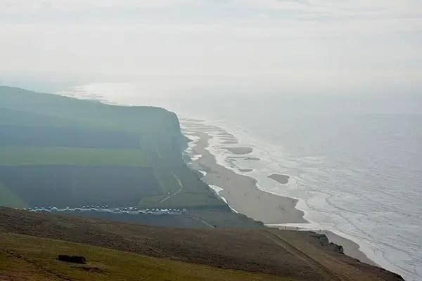 vue sur la plage du cap blanc nez Côte D'Opale