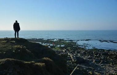 Côte d'Opale, vue sur la plage rocheuse de la pointes aux loies Wimereux