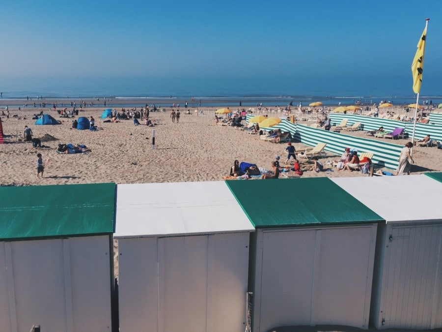 plage  De haan en famille belgique