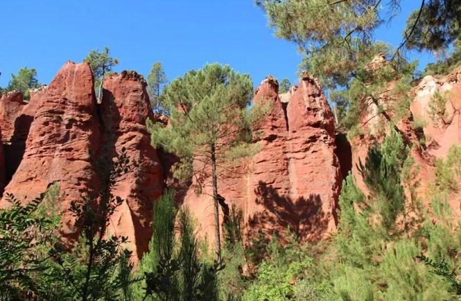 ocre de Roussillon voyage en famille