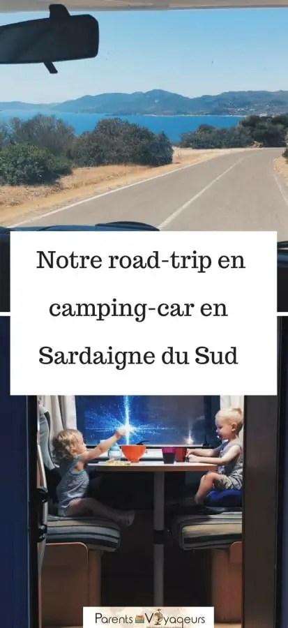 camping car en sardaigne du sud avec les enfants