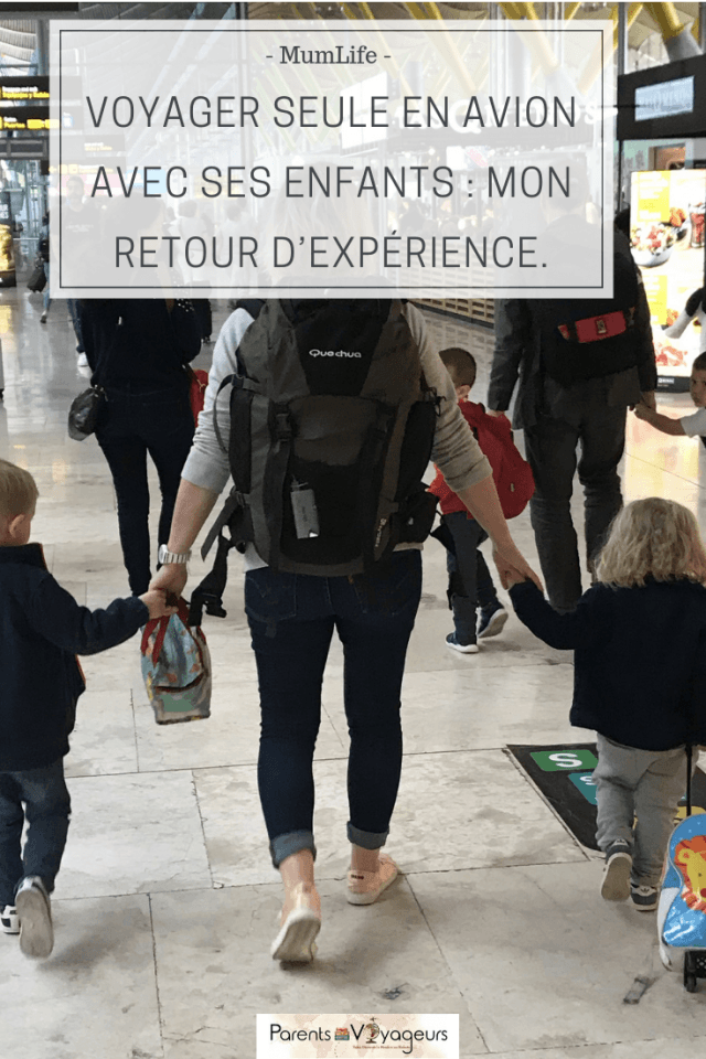 voyager seule avec des enfants