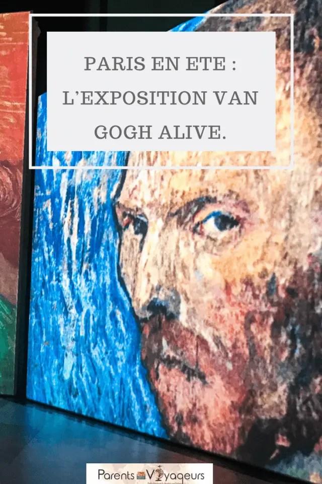 Une activité à ne pas manquer à Paris avec vos enfants : l'exposition Van Gogh Alive.