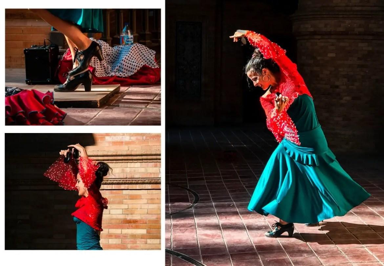 danseuse de flamenco seville en famille