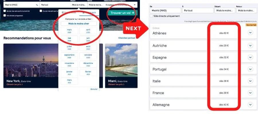 comment trouver des billets d'avion pas cher pour l'europe