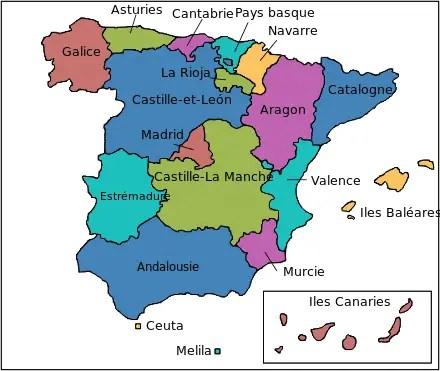 Vacances en Espagne en famille par région