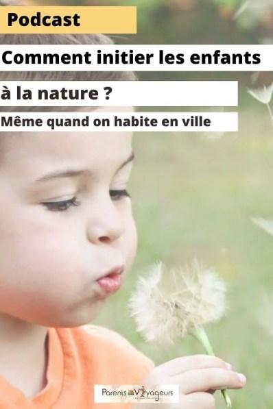 initier ses enfants à la nature