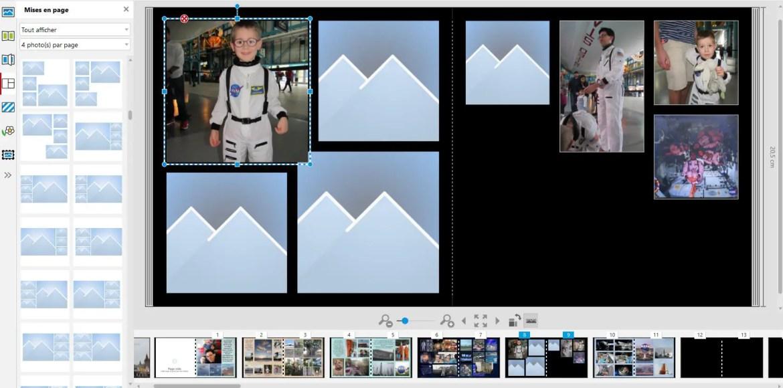 Faire un livre photo - Mise en page