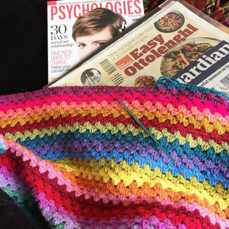 Just as Mr A and I start to feel better the kids seem to have sore throats. So a properly lazy day today, made a curry, read the papers, crochet blanket is going well. Could have predicted all that laziness would end in a monumental tantrum and rage from a pent up child who probably needed more fresh air. God parenting is tough. Back to school is always exhausting. Blinking back tears while reading Erik the Viking and wishing my mum was still here to call up.