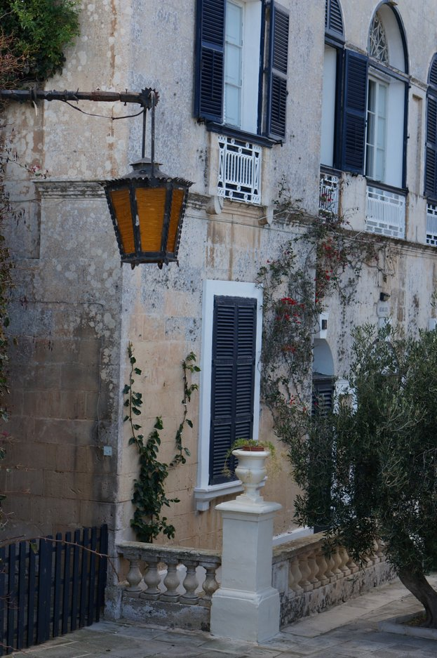 Gorgeous doors of Malta and lamps, in the town of Mdina