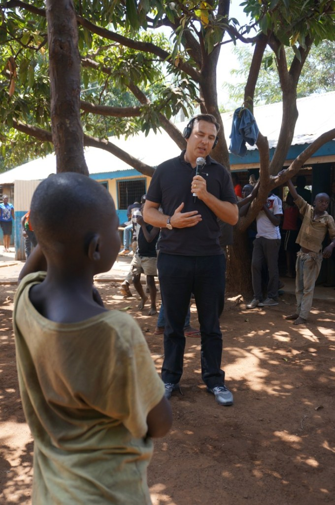 Visiting a Comic Relief funded project in KIsumu, Kenya with David Walliams for Red Nose Day 2015 Launch-2
