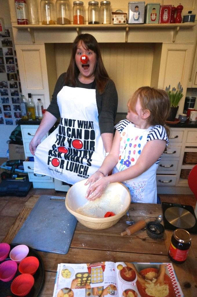 Red Nose Day Jammy Dodgers or Jam Tarts Recipe-3