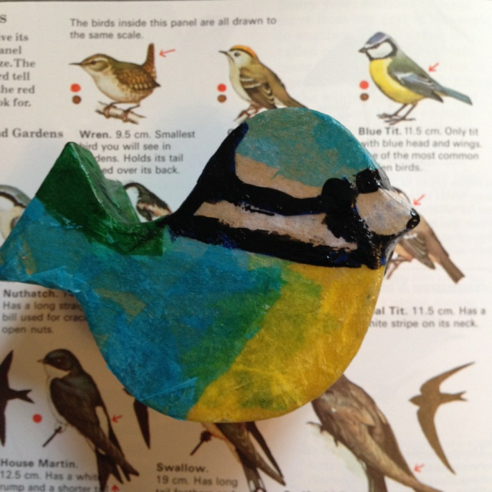Making a decoupage bird shaped box with kits from Baker Ross-5