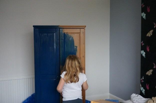 Painting-a-Tardis-Wardrobe
