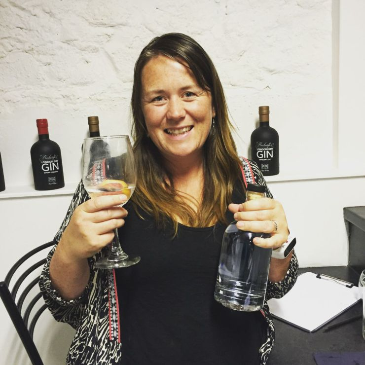 Making my own bottle of gin at Burleigh's 45 Gin School