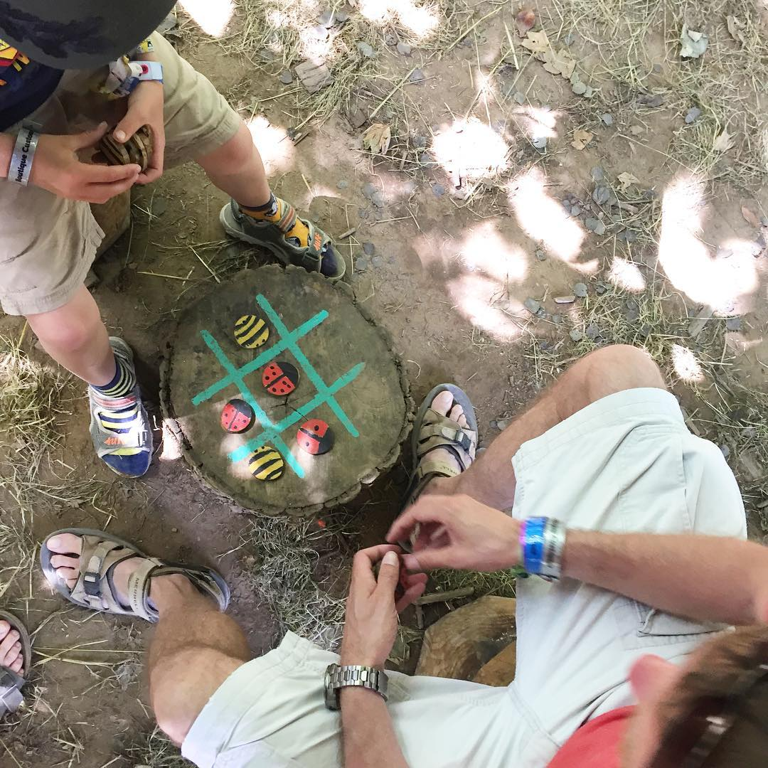 Chilling out in the woods, Lizzie's Way @campbestival #campbestival