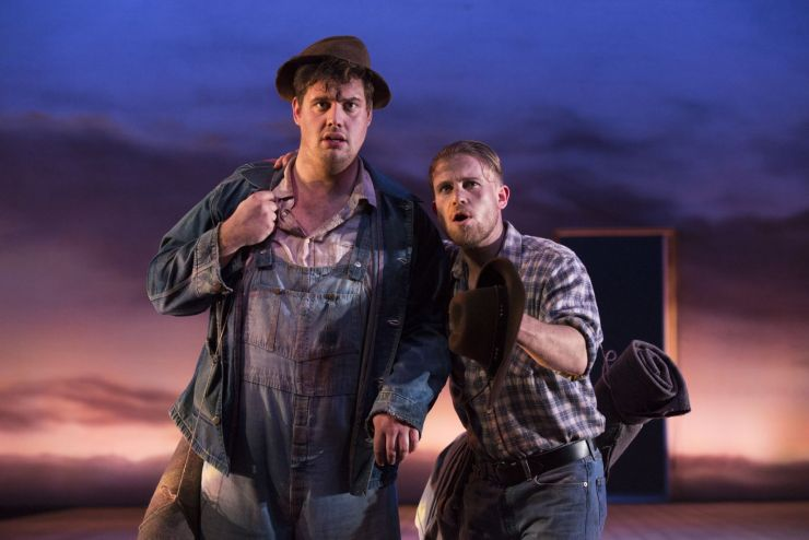 Kristian Phillips (Lennie) and William Rodell (George) in Of Mice And Men(1)