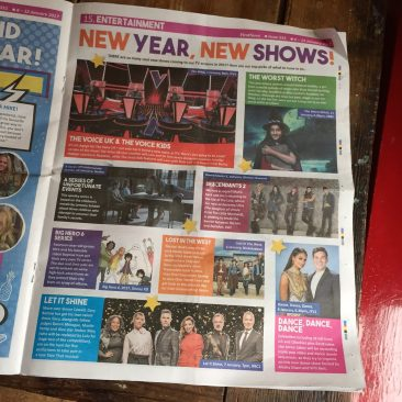 Entertainment pages in First News