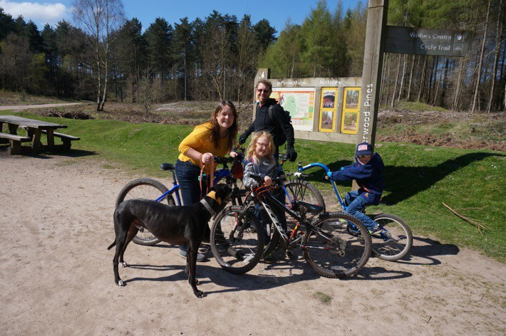 Cycling in Sherwood Pines, Nottingham