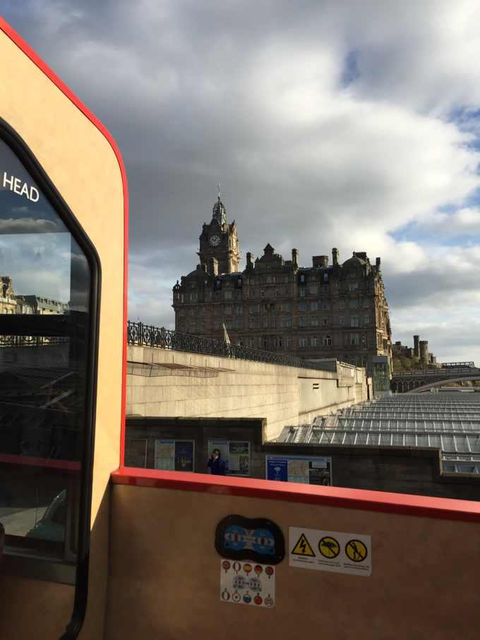 Edinburgh by open top bus