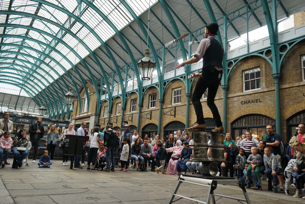 Covent Garden Street Theatre with Kids