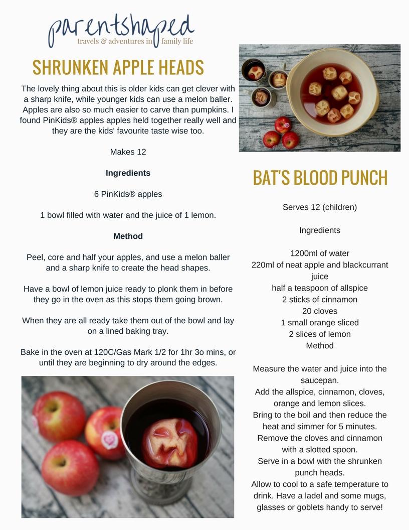 Halloween Shrunken Apple Head Mulled Punch