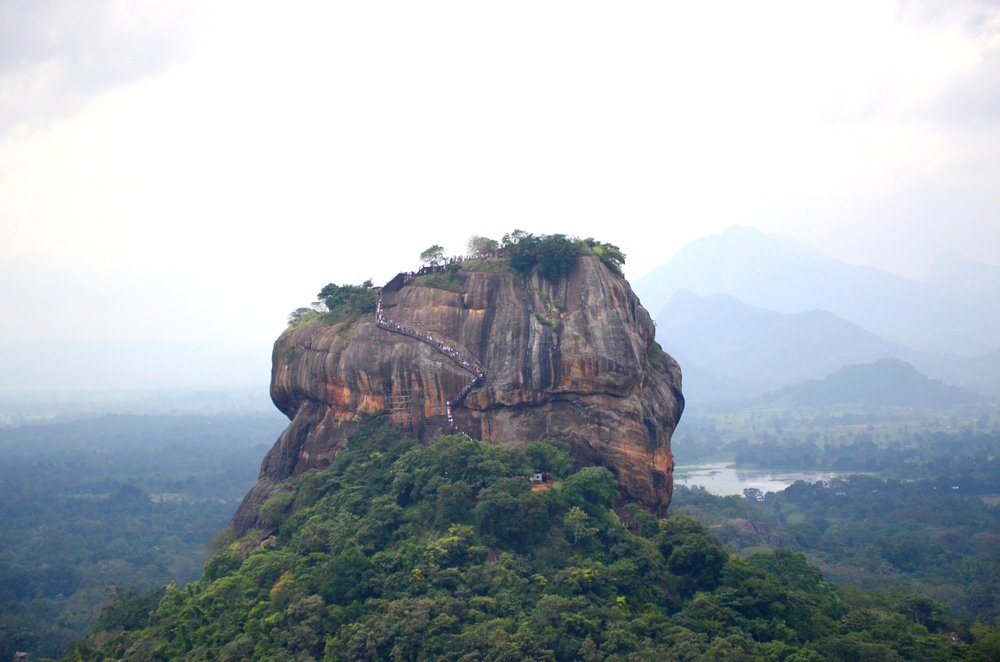 Sigiriya or Sinhagiri is an ancient rock fortress located in the northern Matale District near the town of Dambulla in the Central Province, Sri Lanka.