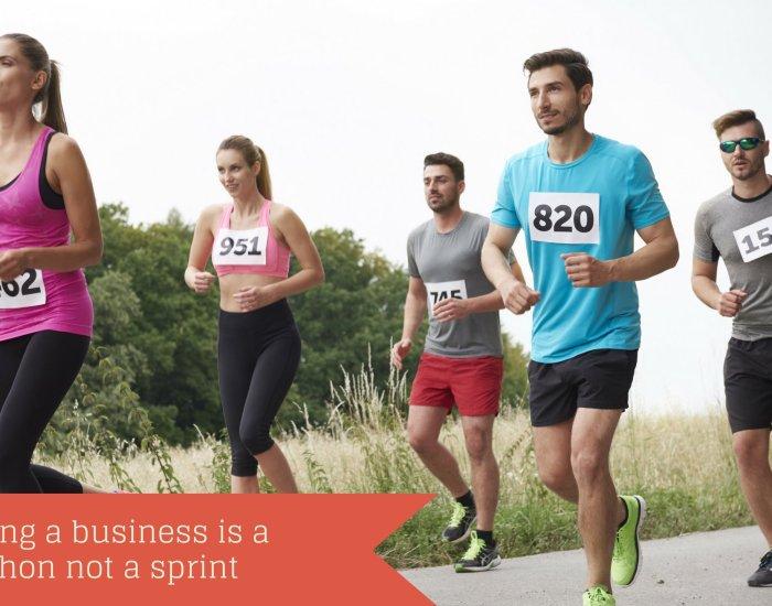 Running a business is a marathon not a sprint