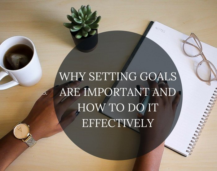 Why setting goals are important and how to do it effectively