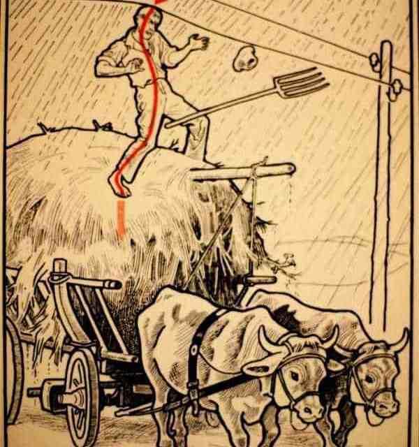 Folgorati: Sul covone di fieno