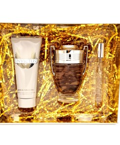 Paco Rabanne Invictus Gift Set 100ml Eau de Toilette + 100ml All Over Shampoo + 10ml Eau de Toilette