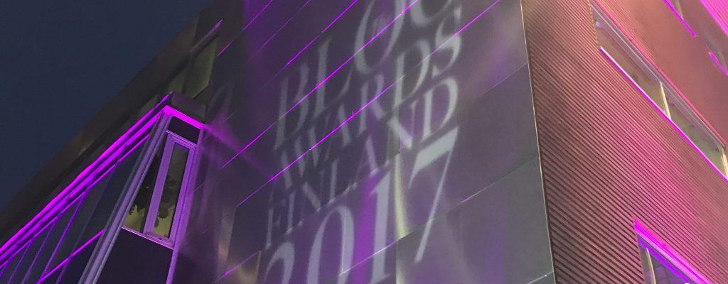 Blog Awards Finland 2017 jälkitunnelmia