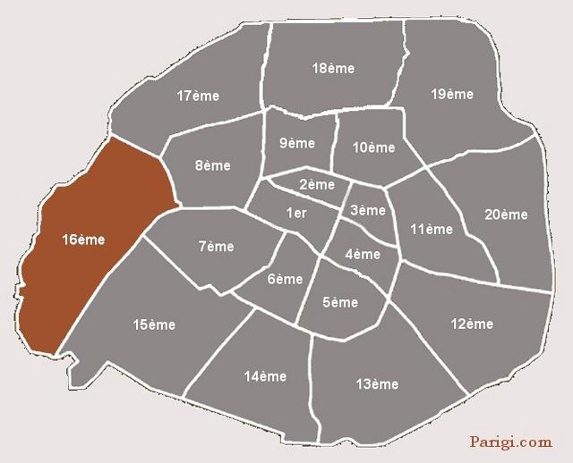 Arrondissement 16 Auteuil Passy B Boulogne  Parigicom