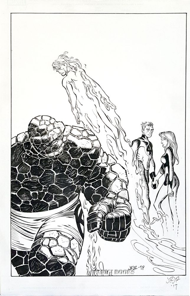 John Romita, Jr. Fantastic Four 2014 #3 Original Cover Art