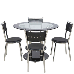 Steel Chair Jhula Glass Table And Chairs Set Parin Dining