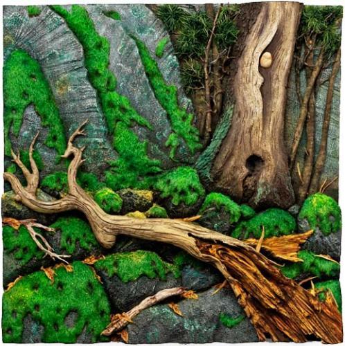 Larbre le bois la fort exposition collective Abbaye