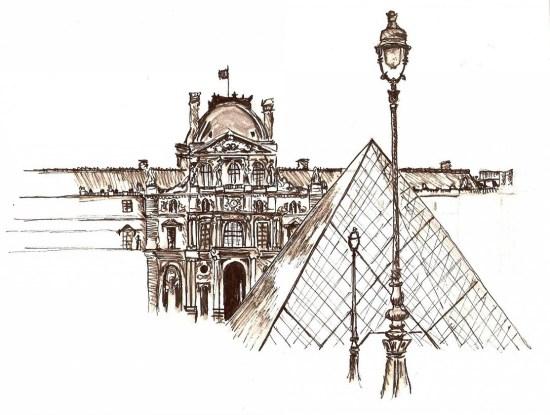 Eiffel Tower Pencil Sketch Gallery Paris en Rose ...