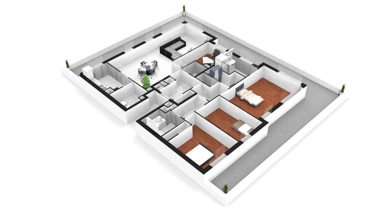Appartement neuf T5  Antony  Parc Heller 5 pices  92160  Rf 1053  Mdicis Prestige
