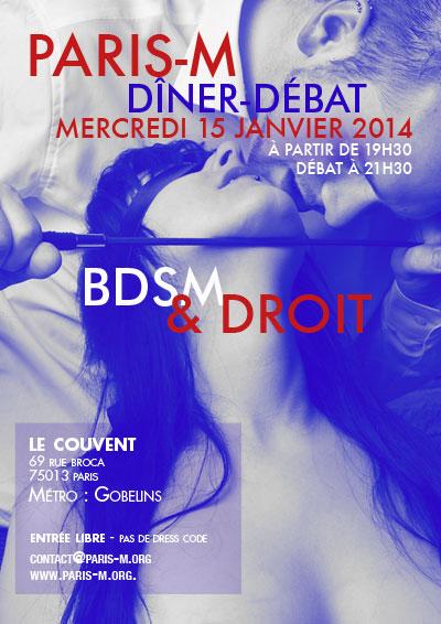 Flyer Dîner/Débat n°77 - BDSM & Droit