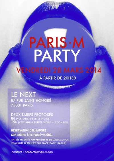 Flyer de la PariS-M Party du 28 Mars 2014