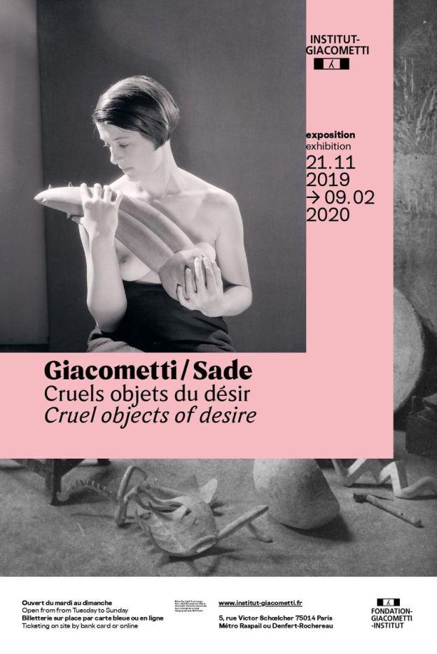 Affiche Cruels objets du désir Giacometti/Sade